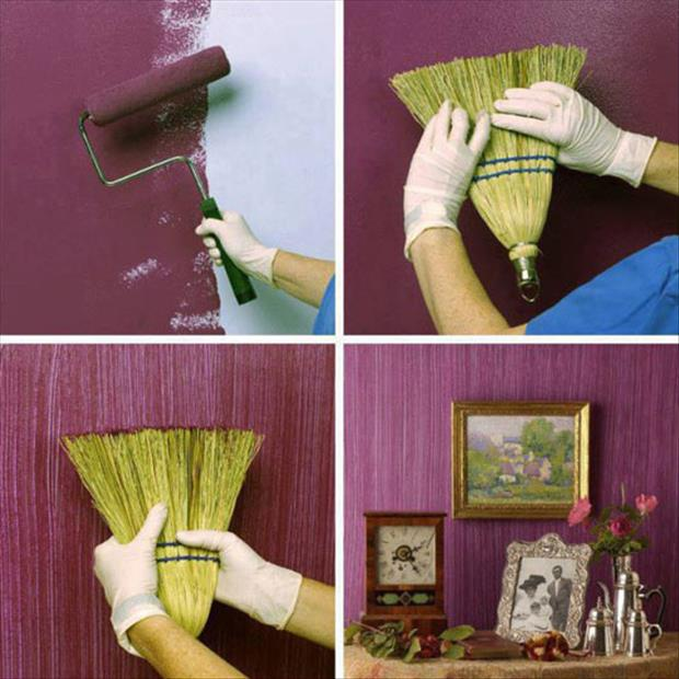 خلاقیت در رنگ آمیزی دیوار، گلدان، چادر