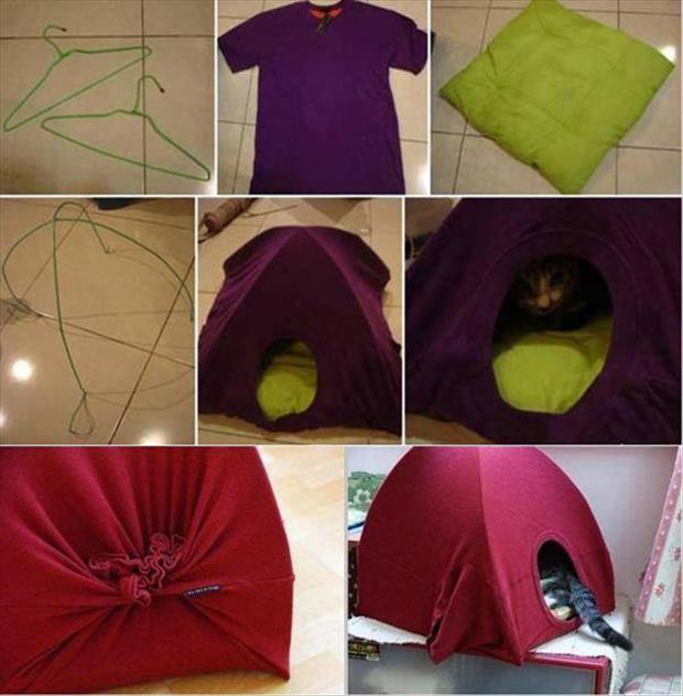 ساخت چادر با لباس کهنه