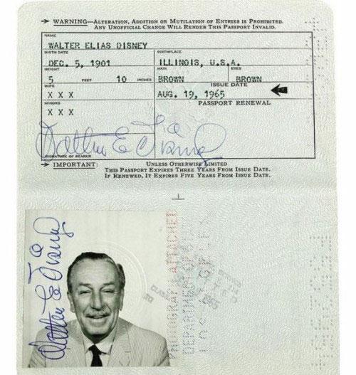 شناسنامه walt-disney,گذرنامه walt-disney,مشخصات خصوصی walt-disney