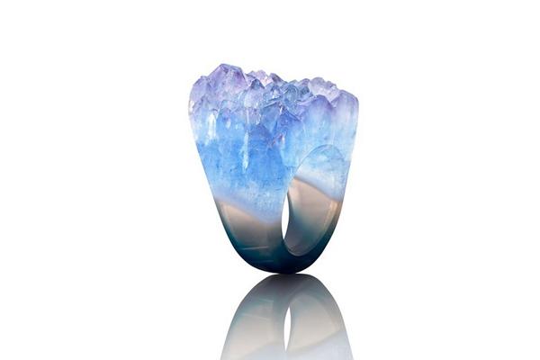 حلقههای کریستالی فوق العاده زیبا ابتکاری از جویا