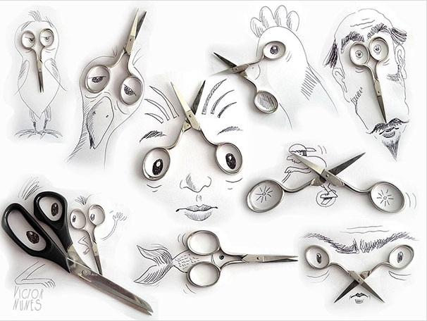 تبدیل اشیاء روزمره به تصاویری خلاقانه