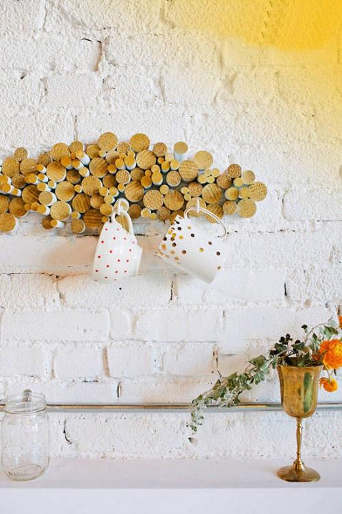 ایده خلاقانه برای ساخت جا لیوانی در آشپزخانه!