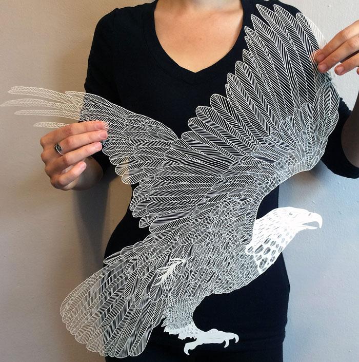 برش های کاغذی هنرمندانه