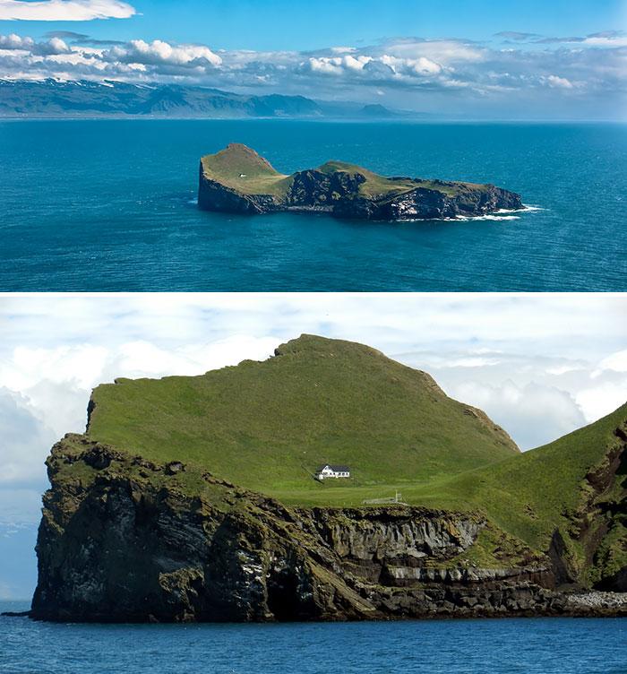 خانه ای کوچک و تنها در جزیره ای دور افتاده در ایسلند