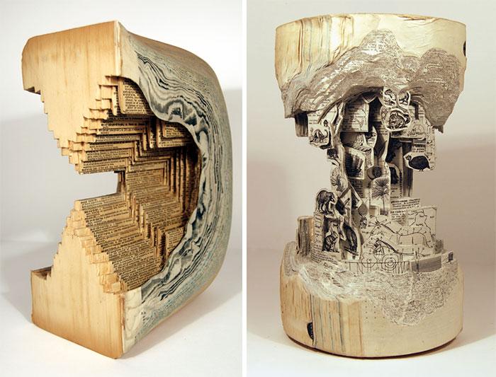 جراحی کتاب و ساخت مجسمه های باورنکردنی
