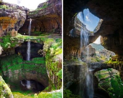 مکانی به غایت زیبا، غار سه پل در لبنان