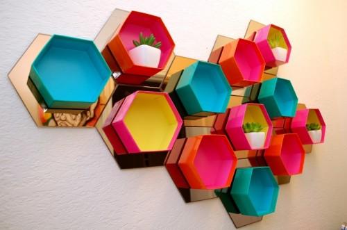 ساخت قفسه شش ضلعی چشم نواز