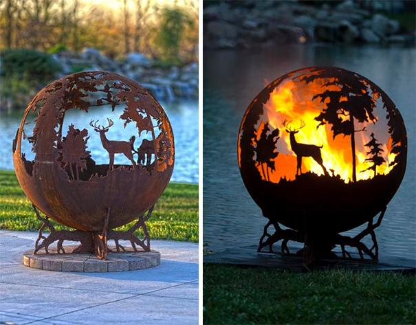 آتش دان های فلزی زیبا و هنرمندانه