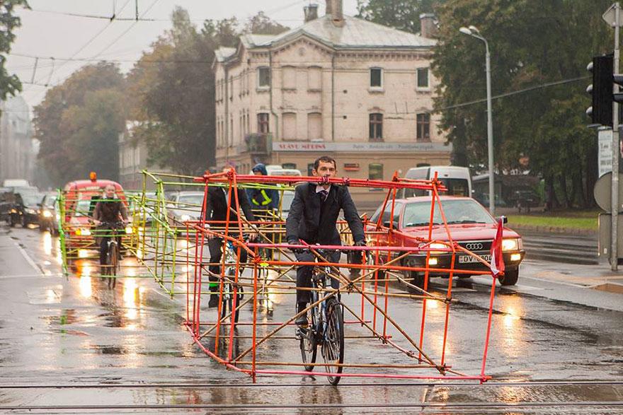 استفاه از دوچرخه، صرفه جویی در فضا