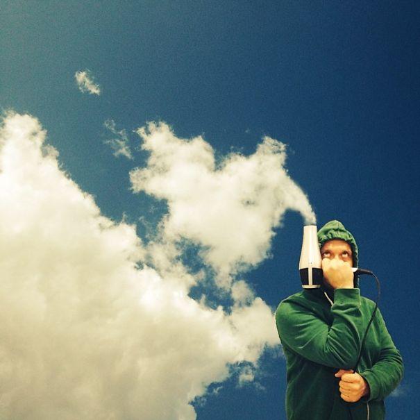 عکس هایی از بازی خیالی با ابرها