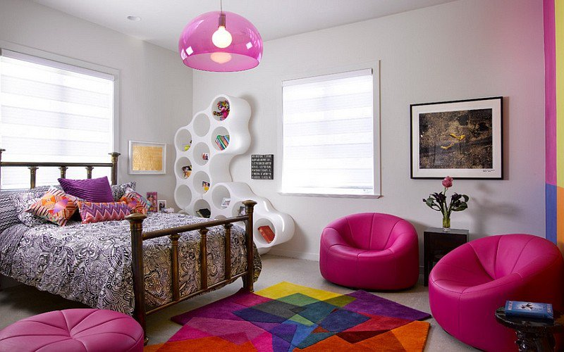 طراحی قالیچه های رنگارنگ برای اتاق خواب کودکان