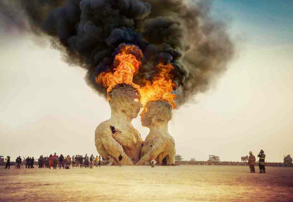 هنر سوخته در آتش