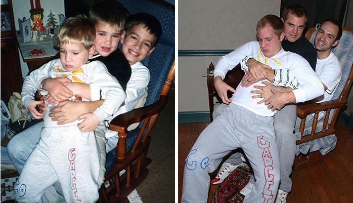 خلق دوباره عکس های دوران کودکی برای هدیه به مادر