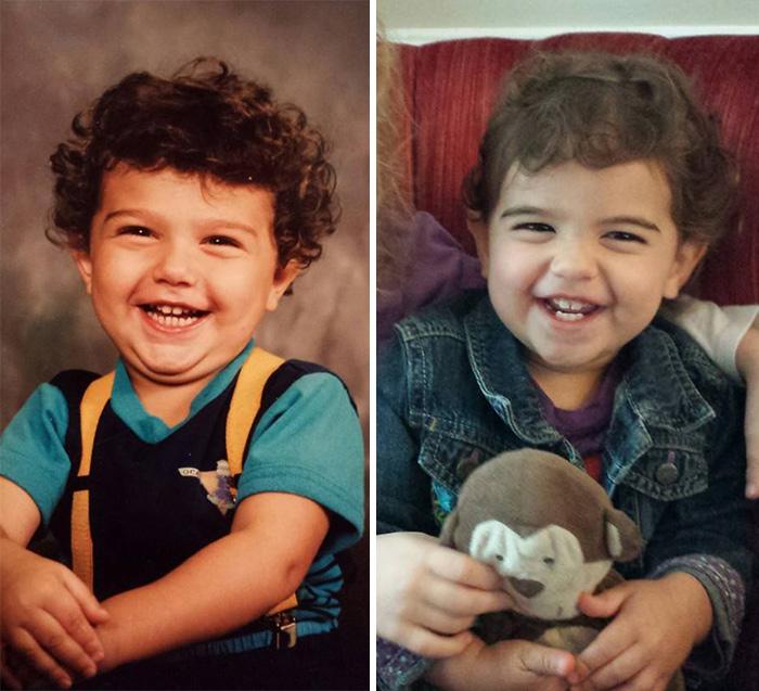 تصاویر جالب از شباهت کودکان به پدر و مادر