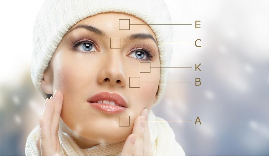 تاثیر انواع ویتامین ها روی پوست