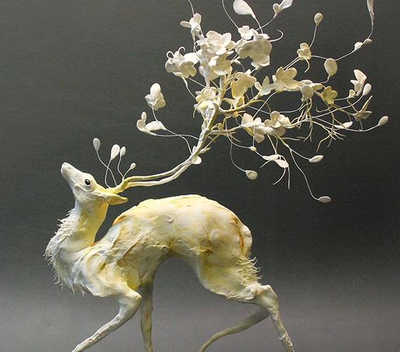 مجسمه هایی بی نظیر از ادغام حیوانات و گیاهان