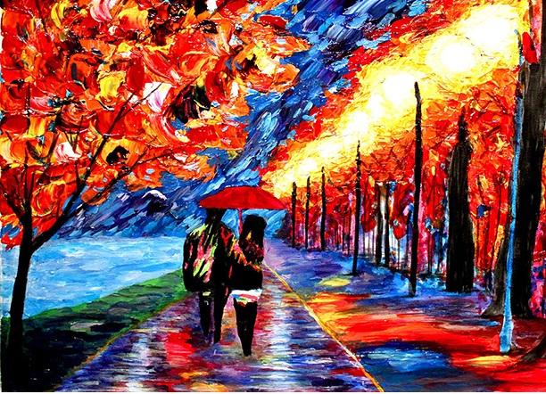 نقاشی های باور نکردنی رنگارنگ اثر نقاش نابینا