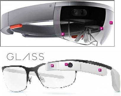 هولولنز(Hololens) در برابر عینک گوگل(Google Glass)