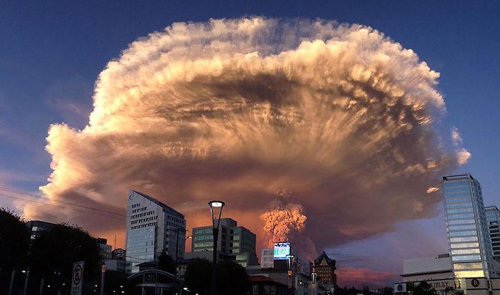 عکس های نفس گیر از فوران آتشفشان کالبوکو در شیلی