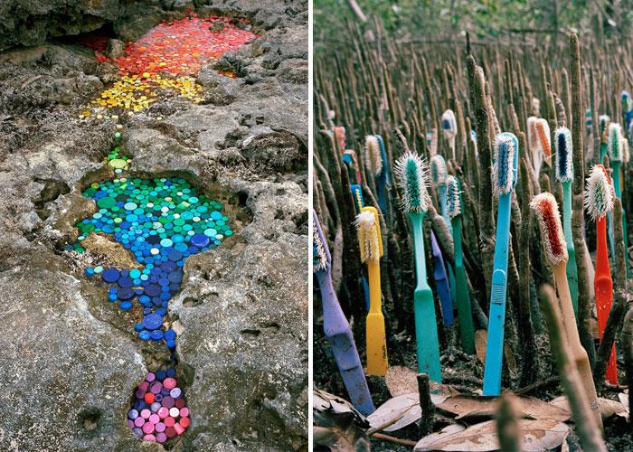 خلق آثار هنری با استفاده از زباله
