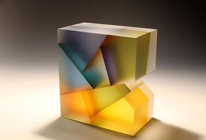 مجسمه های شیشه ای با الهام از تقسیم سلولی