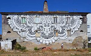 هنر خیابانی: پوشش خیابانهای شهر با توریهای منظم و پیچیده