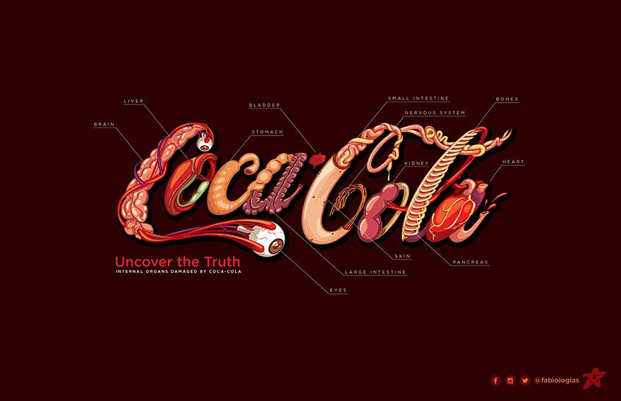 واقعیت در لوگوی صادقانه کوکا کولا