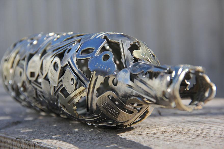 recycled-metal-sculptures-key-coin-michael-moerkey-2