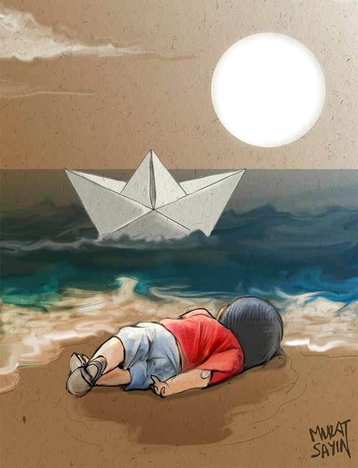 syrian-boy-drowned-mediterranean-tragedy-artists-respond-aylan-kurdi-4__700