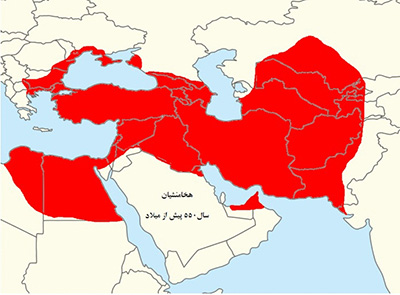 نقشه قلمرو سلسلههای حاکم بر ایران