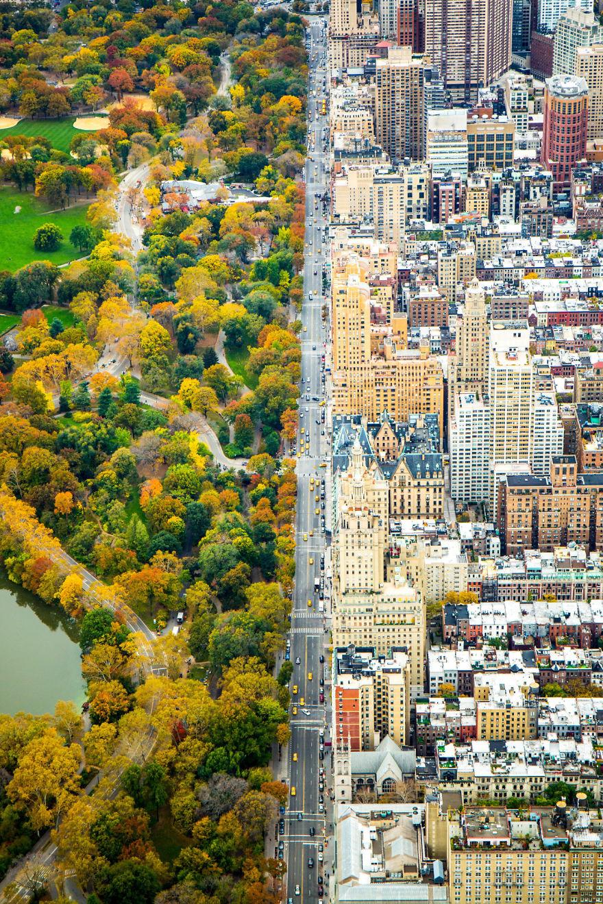 کنتراست باور نکردنی بین دو جهان – پارک مرکزی نیویورک