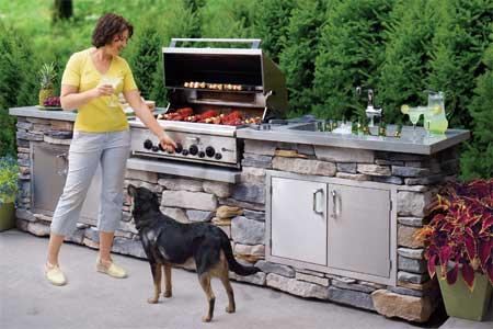 ایده ساخت آشپزخانه در فضای باز