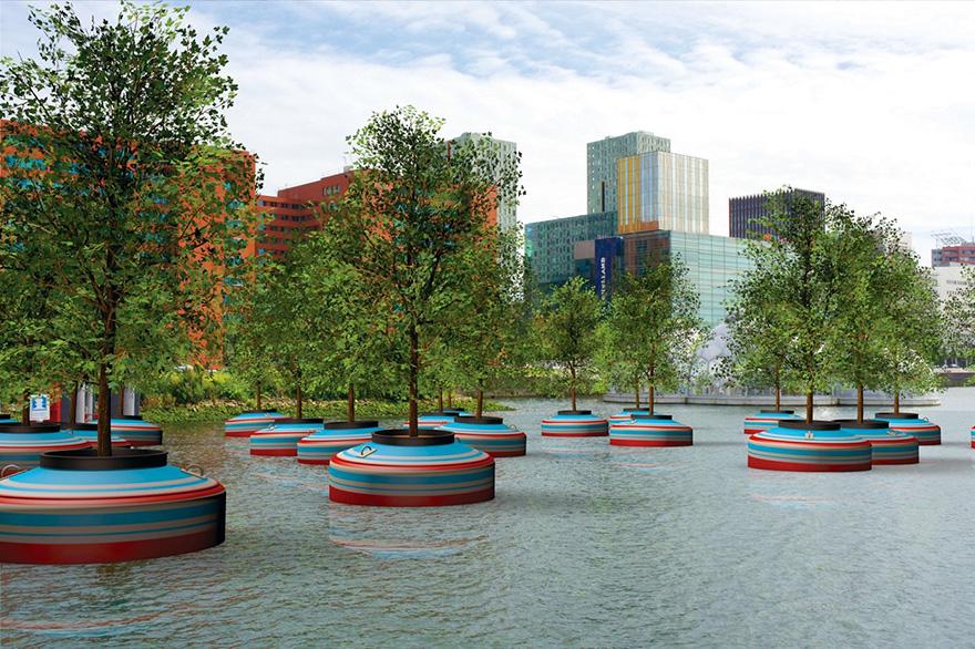 راه اندازی جنگل شناور در روتردام هلند