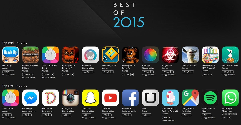 اپلیکیشن های سال ۲۰۱۵ را نصب کنید