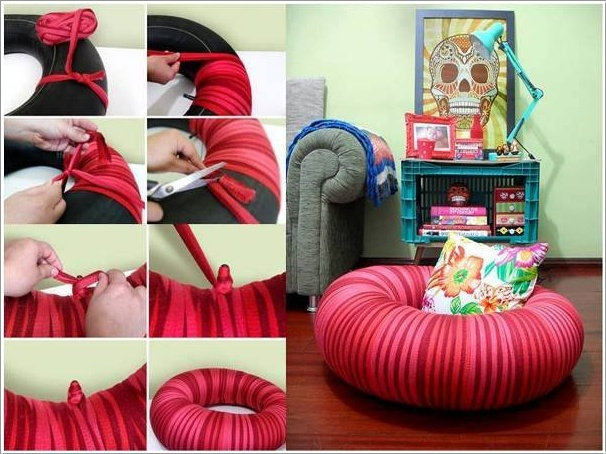 Interesting-DIY-Ideas-to-Recycle-Old-Tires-With-Tire-Inner-Tube-Wrapped-Seat