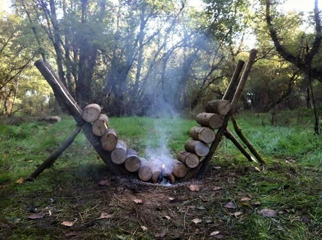 ایده خلاقانه در روشن نگه داشتن آتش