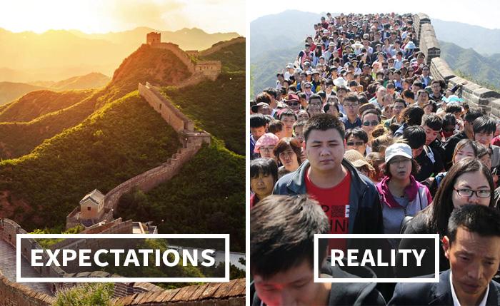 انتظارات سفر در قیاس با واقعیت