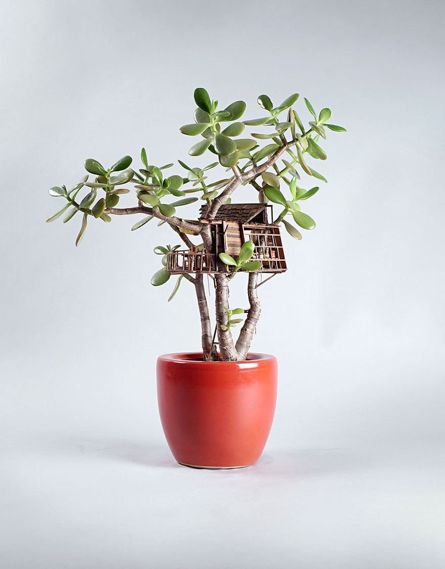خانه های درختی مینیاتوری