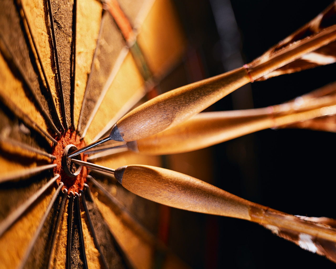 Three Darts in a Bullseye