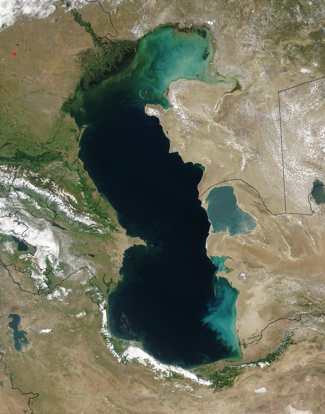 دریاها، دریاچه ها و رودها