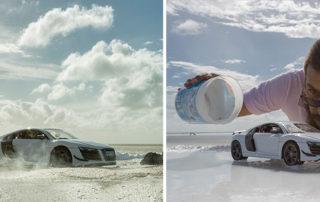 عکاسی از خودرو با استفاده از اسباب بازی