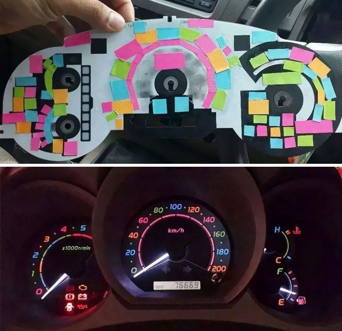 طراحی و نقاشی خلاقانه روی خودرو