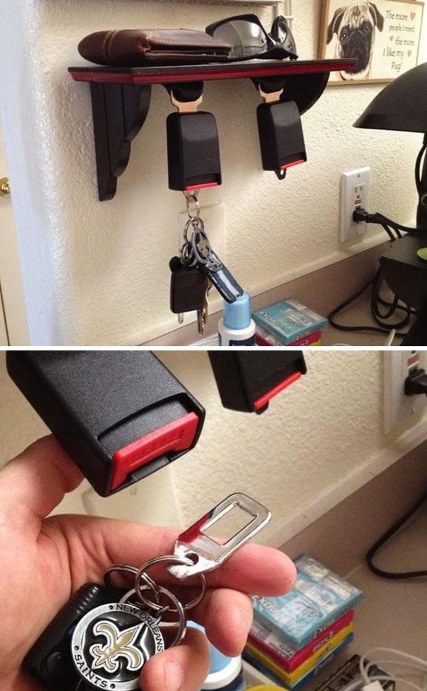 تبدیل قفل کمربند های قدیمی به گیره کلید
