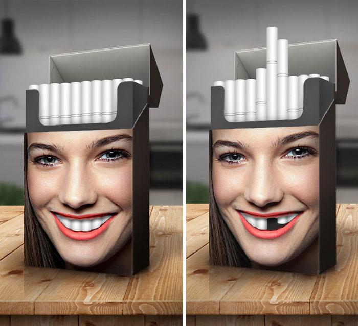 پوسترهای هنری علیه سیگار