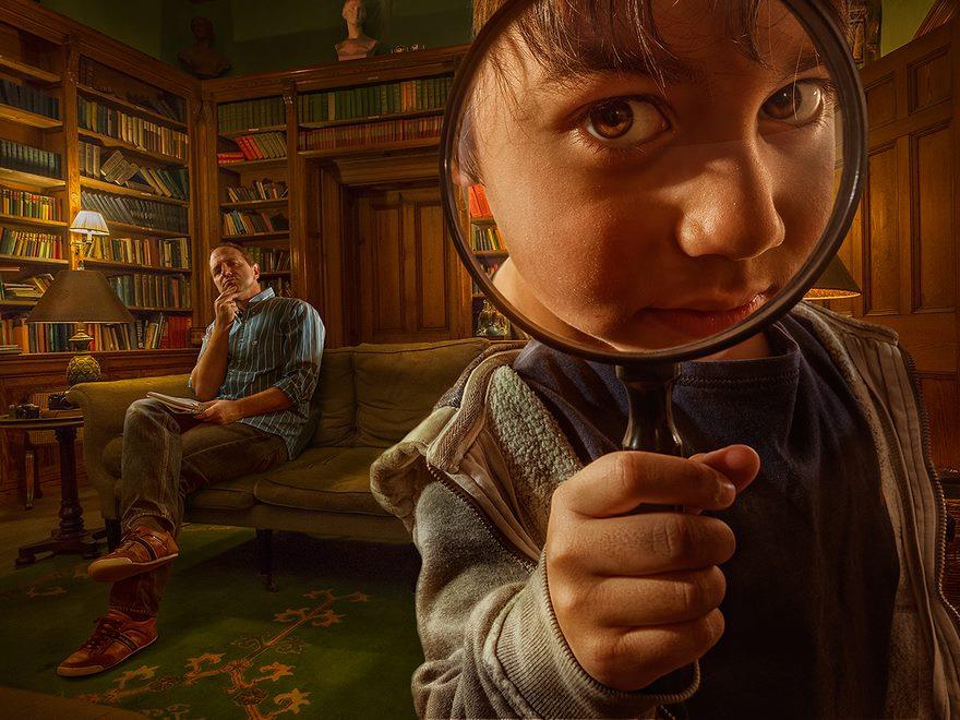 پدر هنرمند و فوتوشاپ تصاویر پسرش