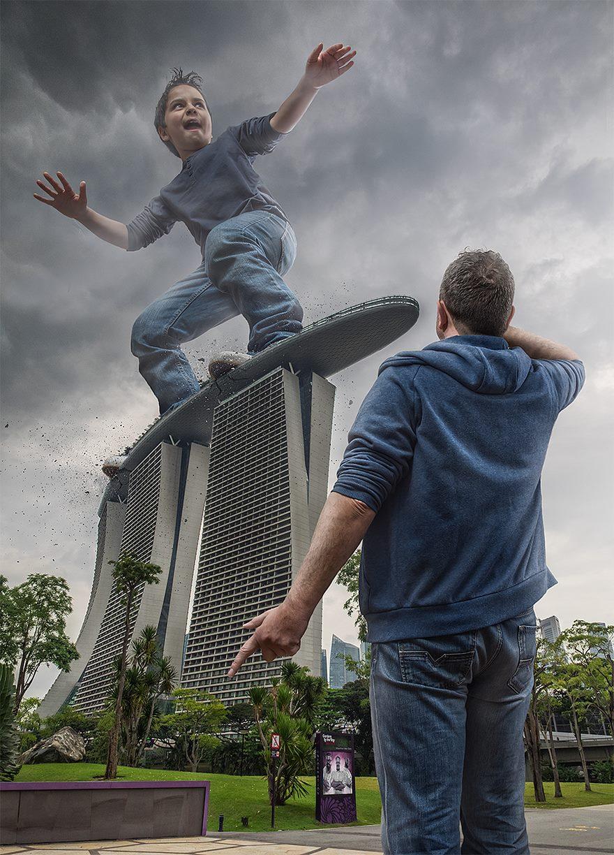 تصاویر فوتوشاپ پسر و پدر