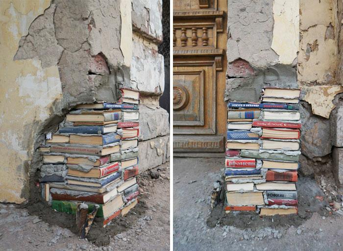 تعمیر هنرمندانه دیوار خراب شده