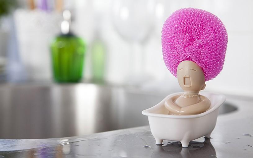 نگهدانده سیم و اسکاچ خلاقانه برای آشپزخانه زیبای شما