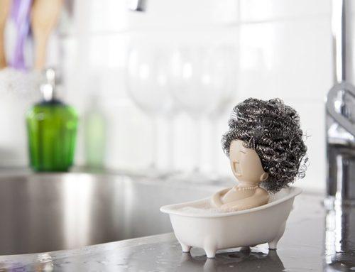 نگهدارنده سیم و اسکاچ خلاقانه برای آشپزخانه زیبای شما