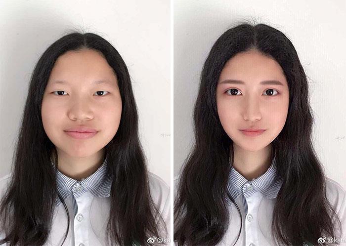 عکس زن با فوتوشاپ و بدون فوتوشاپ